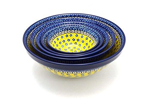 Polish Pottery Nesting Bowl Set - Sunburst