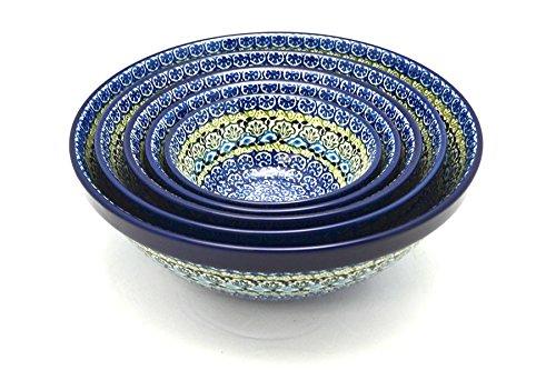 Polish Pottery Nesting Bowl Set - Tranquility