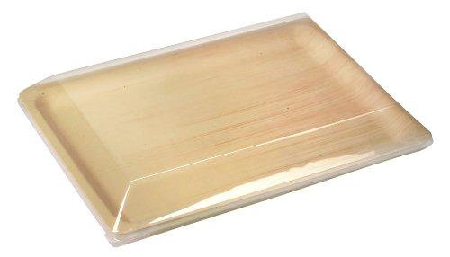 "PackNWood 210BBA4028 ""Scandinavia Rectangular Wooden tray - 158 x 11 x 8 - 100 per case"