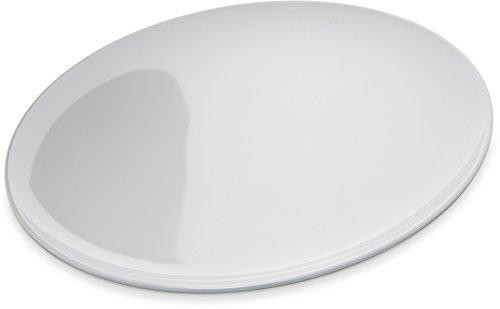 Carlisle 4380002 Epicure Melamine Buffet  Pizza Plate 12 White Set of 12
