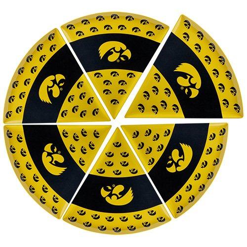 Supreme Housewares NCAA Iowa Pizza Plate Set of 6 BlackGold