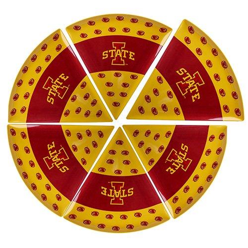 Supreme Housewares NCAA Iowa State Pizza Plate Set of 6 CardinalGold