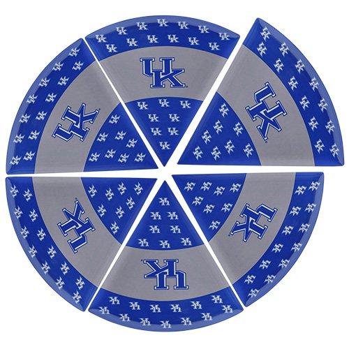 Supreme Housewares NCAA Kentucky Pizza Plate Set of 6 WhiteBlue