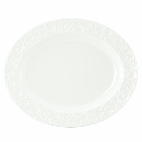Lenox Opal Innocence Carved 14-Inch Medium Oval Platter