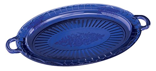 Cobalt Blue Glass Serving Platter by Miles Kimball