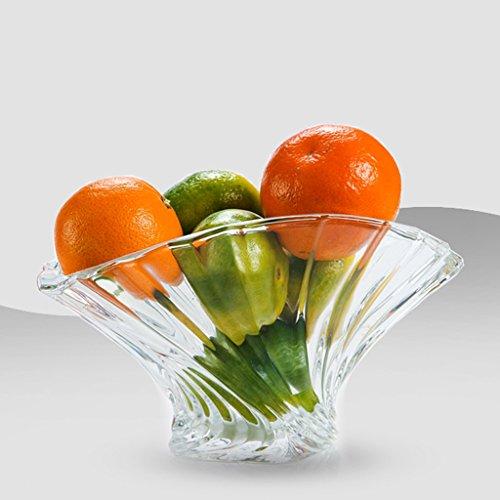 Fruit tray Fan-shaped lead-free glass fruit plate fruit plate fashion creative