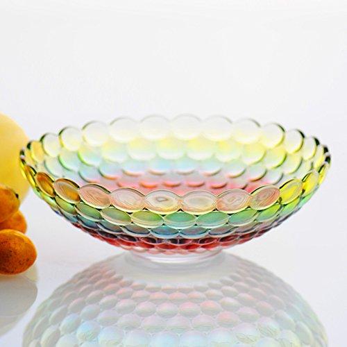 Large crystal glass fruit plate living room home creative modern european fruit plate candy fruit fruit fruit plate-H