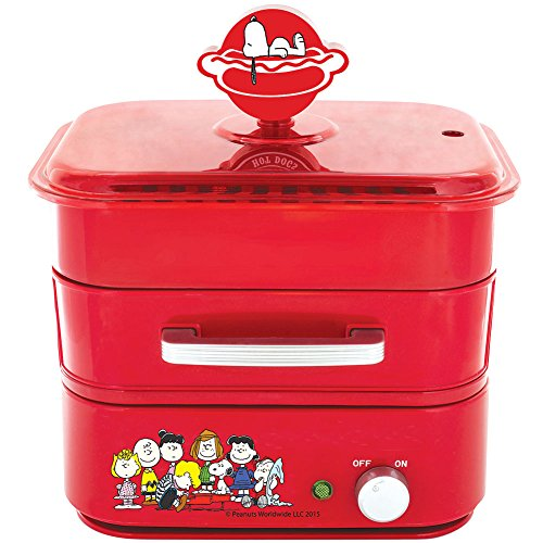 Peanuts Charlie Brown Hot Dog Steamer - Steaming Drawer & Bun Serving Tray