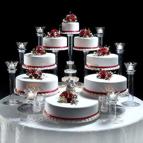 BalsaCircle 8 Tiers Clear Wedding Cupcake Cake Stand