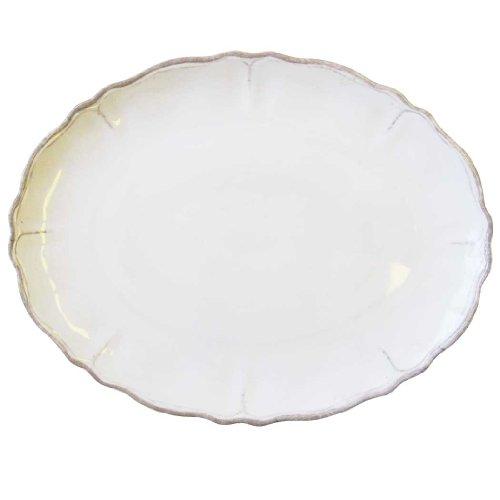 Le Cadeaux Rustica Antique White Large Oval Platter