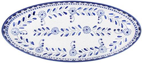 Le Souk Ceramique AZ12 Stoneware Extra Large Oval Platter Azoura