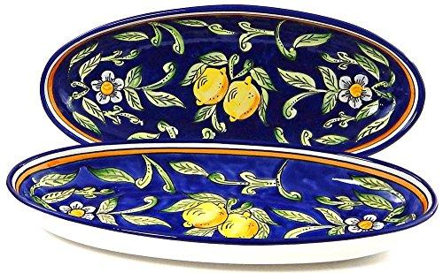 Le Souk Ceramique Large Oval Platters Set of 2 Citronique Design