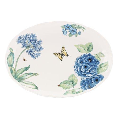 Lenox Butterfly Meadow Blue Large Oval Platter