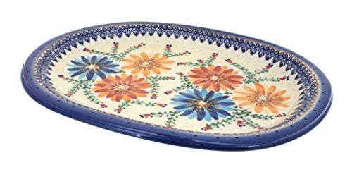 Polish Pottery Autumn Burst Large Oval Platter