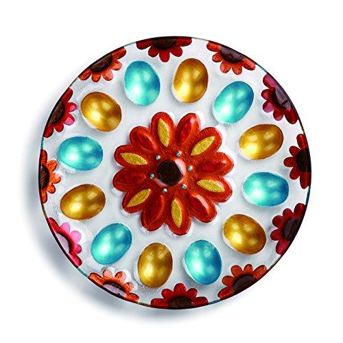 Demdaco Patterned Deviled Egg Platter Multicolor