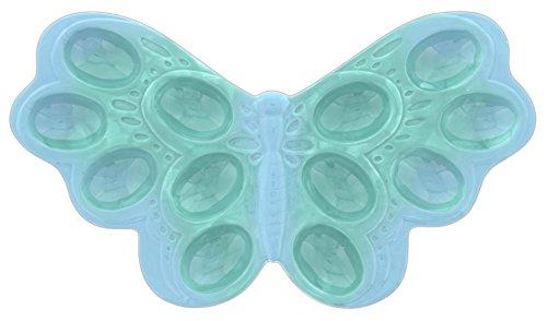 Ganz 13 Blue Ceramic Butterfly Deviled Eggs Platter - Holds 12 Eggs