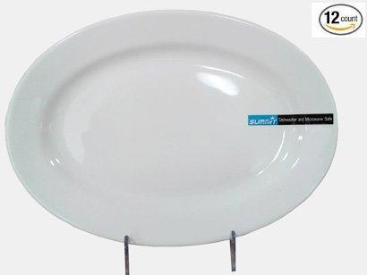 1 Dz Super White Porcelain Oval Platters 775 x 565 x 075H Y1351