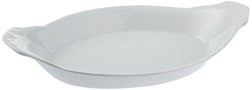 Bia Cordon Bleu 900049 White Oval Porcelain Au Gratin Bowl 8 oz White