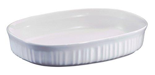 Corning Ware French White 15 Qt Oval Casserole Baking Dish F-6-B