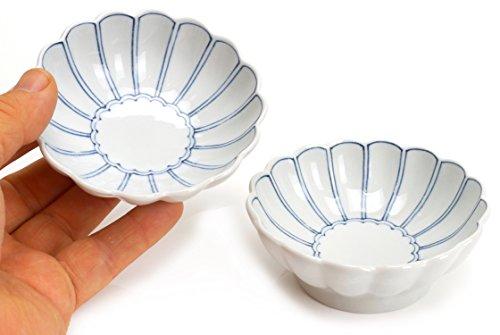 Spiceberry Home Porcelain Lotus Pedal Mini Appetizer Dish 3-Inch Set Of Four