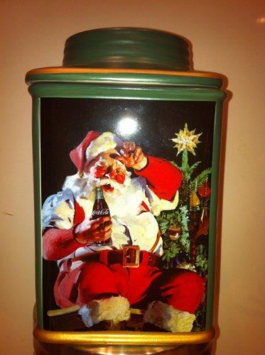 Coca-Cola Stoneware Canister - Tired Santa