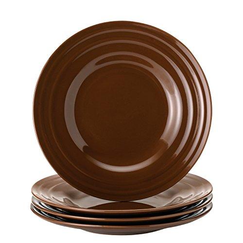 Rachael Ray Dinnerware Double Ridge 4-Piece Salad Plate Set