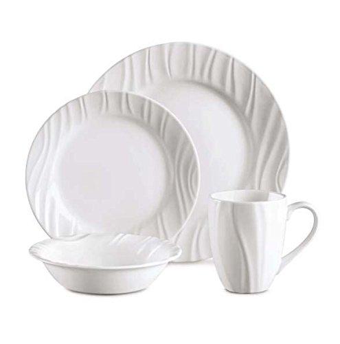 CORELLE Boutique Swept Embossed 16-pc Dinnerware Set