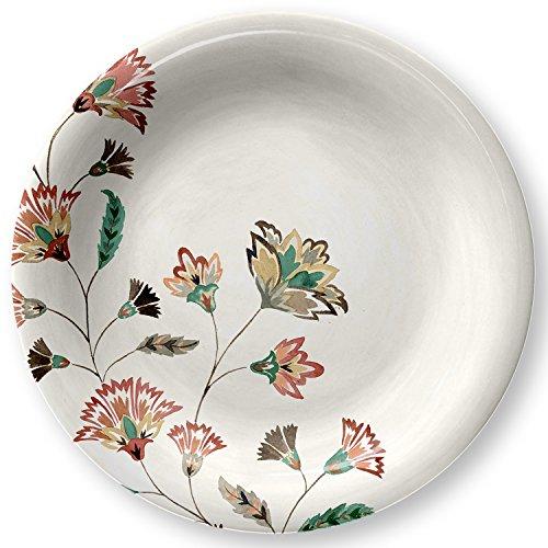 Melamine 105 Floral Dinner Plate 4pk