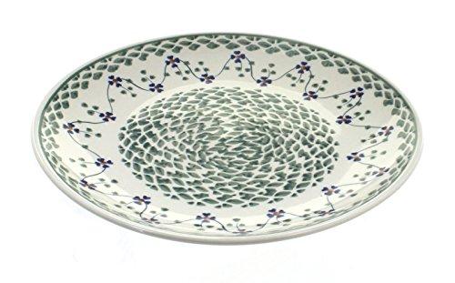 Polish Pottery Sage Floral Dinner Plate