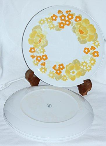Vintage Corning Centura SUMMERHILL Floral Dinner Plates - Set of 4