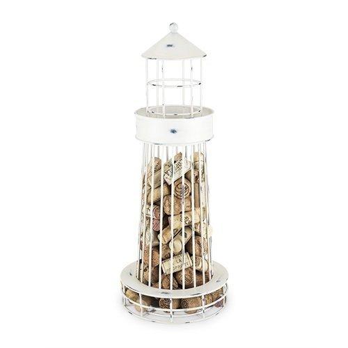 Decorative Wine Cork Holder Twine Metal Lighthouse Cage For Wine Corks Holder