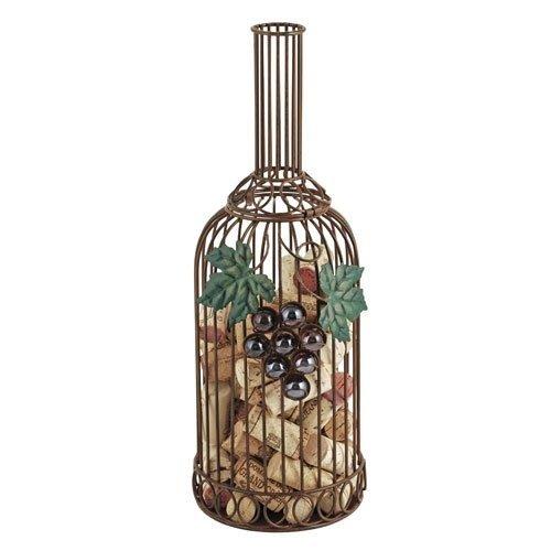 Decorative Wine Cork Holder Wrought Iron Grapevine Metal Rustic Cork Holders