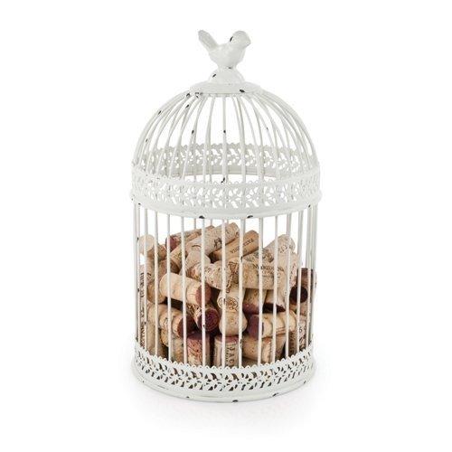 Wine Cork Holder Rustic Country Cottage Bird Cage Decorative Metal Cork Holder
