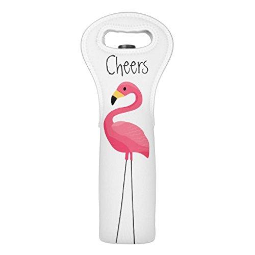 Wine Tote Bag Flamingo Illustration Wine Carrier Tote Bottle Insulated Neoprene Wine Bottle Holder for Travel