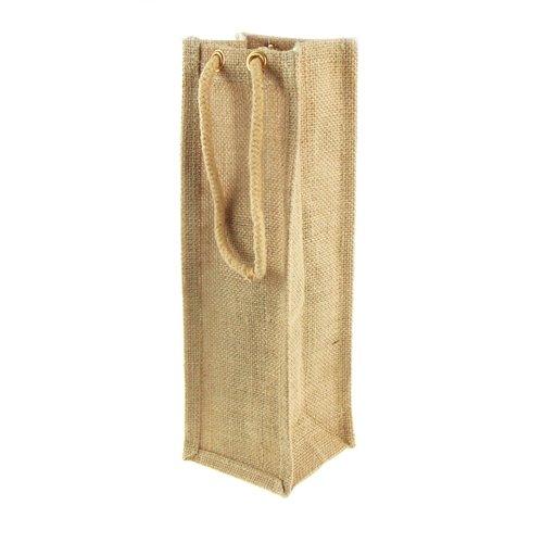 Homeford FHV000B16402 Jute Wine Bag with Cord Handle 5 Pack 14