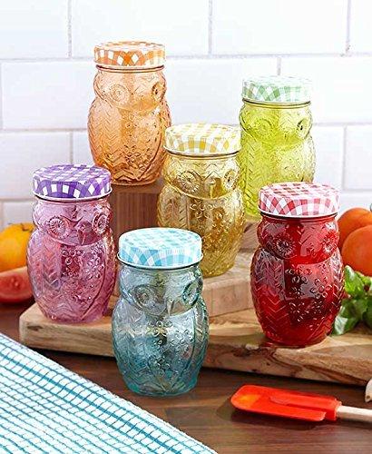 12-Pc Owl Storage Jar Set