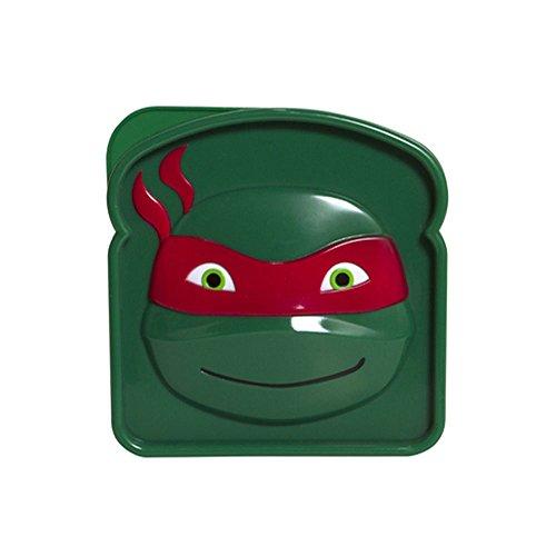 Nickelodeon Teenage Mutant Ninja Turtle Sandwich Savr Elmo Sandwich Box for Kids Lunch Snacks Go Snack Storage Container Colors May Vary