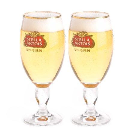 Stella Artois Pilsner Beer Chalis Set of 2