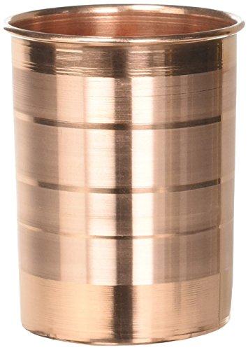 DakshCraft Handmade Pure Copper Tumbler Glass Set of 6 Glasses