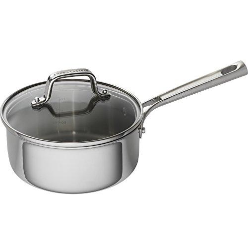 Emeril Lagasse 62855 Tri-Ply Stainless Steel Saucepan 2 quart Silver