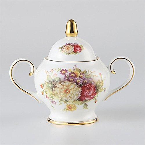 MueYan Painted Ceramic Frothing Pitcher Coffee Creamer Milk Sugar Jar Tea Pot with Lid
