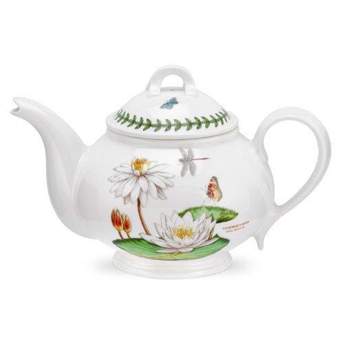 PORTMEIRION EXOTIC BOTANIC GARDEN Teapot romantic shape white water lily by Portmeirion