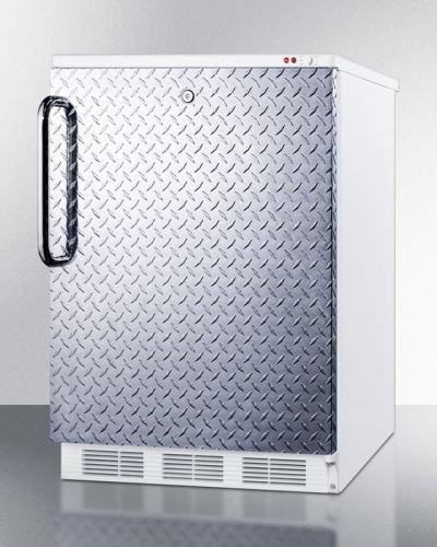 Summit VT65MLDPL Upright Freezer Silver With Diamond Plate