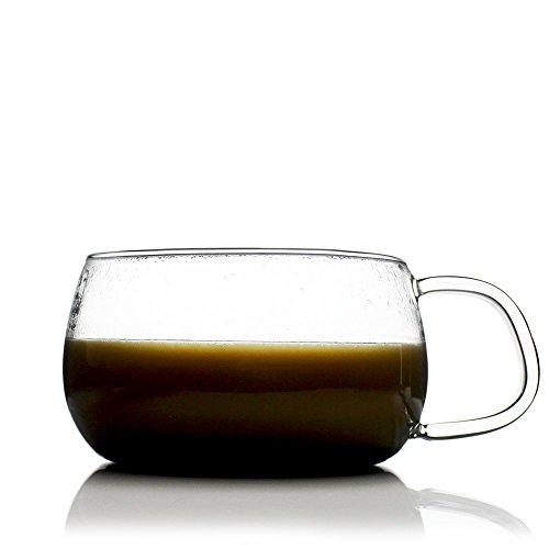 UNIHOM - Dawn Clear Glass Tea Cup Volume 200ml  280ml  400ml 2 200ml
