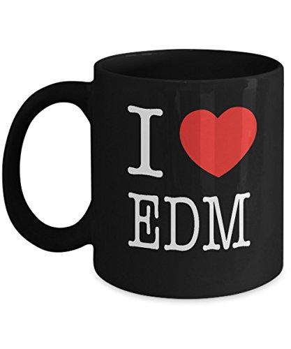 I Heart EDM I Love Acrylic Coffee Mug Black 11oz