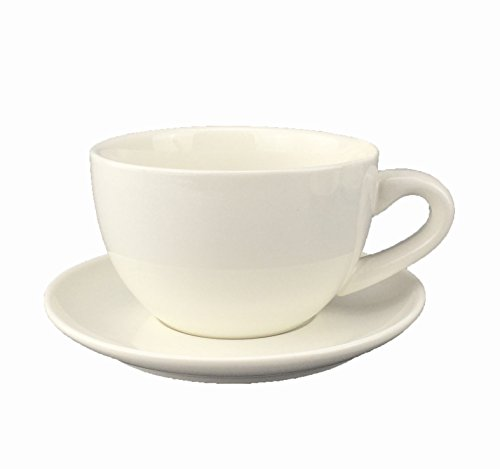 BXSBH-Give a good giftCeramic creative continental minimalist coffee cup pure white flower-down coffee cup 350ml kit cup  bottom disc