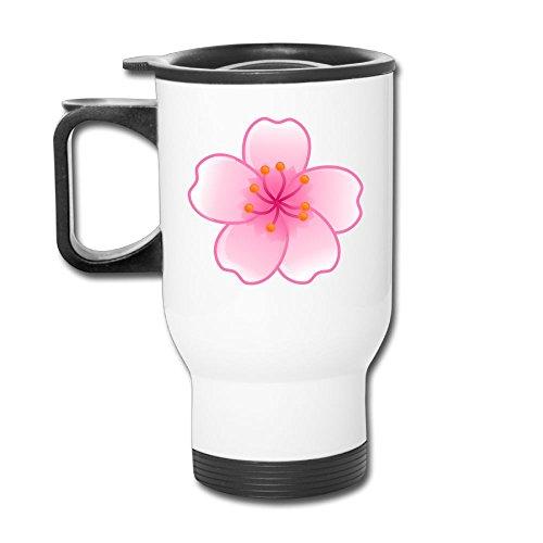 Sakura Flower Stainless Steel Tea Mug Travel Coffee Mug Or Tea Cup With Lid White