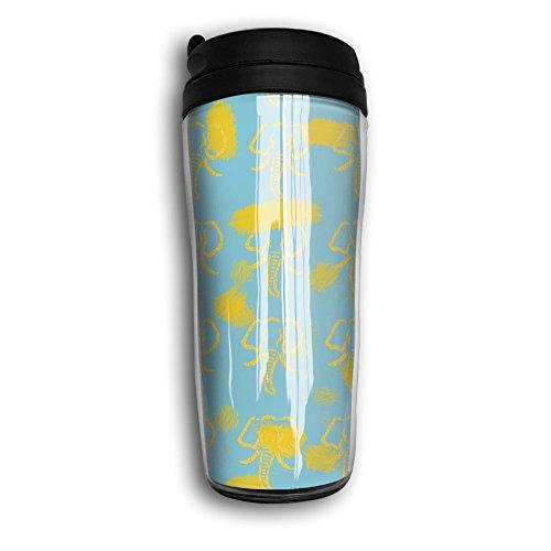 Stylish Cruve Seamless Pattern With Hand Drawn Elephants Stainlee Steel Tea Mug