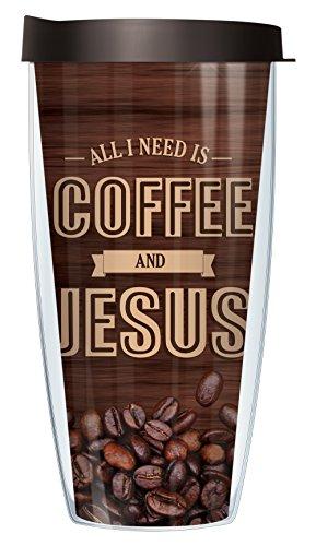 Coffee And Jesus Wrap 22 Oz Super Traveler Tumbler Mug with Lid