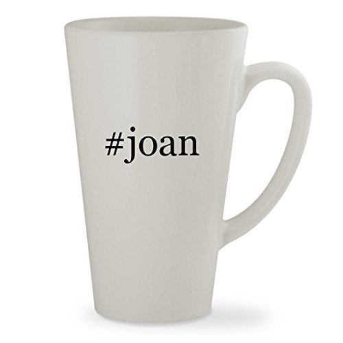 joan - 17oz Hashtag White Sturdy Ceramic Latte Cup Mug